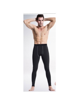 Men's Body Muscle Long Running Fitness Tights Pants CF2212 black