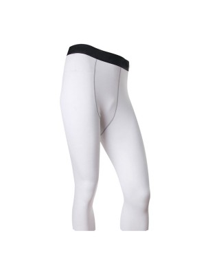 Men's Compression Baselayer Athletic Performance Pants CF2224 white