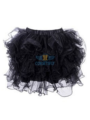Organza Princess Ballet Warrior Skirt Tulle Skirt Tutu Costume Accessories CF8503 Black