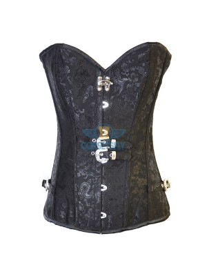 Steampunk Dragon Embroidered Steel Buckle Clasp Closures Steel Boned Corset CF8029