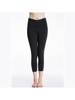 Women's Elastic Fit Athletic Compression Long Pants CF2239 black