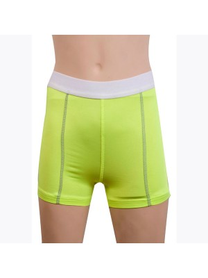 Women's Fit Elastic Athletic Compression Shorts CF2235 green