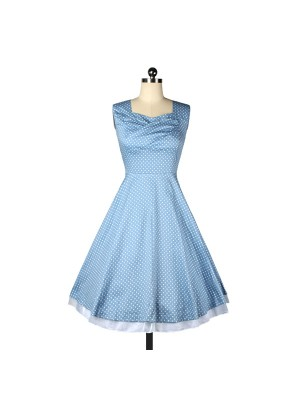 da5364453361ca Womens Polka Dot 1950s Vintage Retro Swing Tea Party DressCF1228