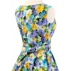 50s 60s Vintage Rockabilly Swing Picnic Party Beauty Ball Dress Floral CF1008 Yellow Floral_05
