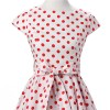 Retro 1950s Audrey Polka Dots Swing Cocktail Rockabilly Pinup Dress CF1003 Red White_04