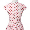 Retro 1950s Audrey Polka Dots Swing Cocktail Rockabilly Pinup Dress CF1003 Red White_05