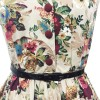 Women 1950s Floral Rockabillty Picnic With Belt Plus Size Dress CF1363 multi_10