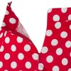 Women 50s Rockabilly Pleated Vintage Skirts Polka Dots Midi Skirt red dots_02