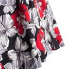 Women's 50s Rockabilly Floral High Waist A Line Pleated Full Midi Skirt red flower_09