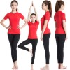 Women's Short Sleeve Elastic Athletic Compression Shirt CF2234 red_02
