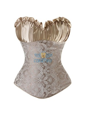 Classic Rouched Cups Side Zipper Overbust Corset CF7108