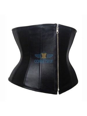 Classical Sexy and Elegant Fashionable Plus Size Leather Zipper Corset CF7208
