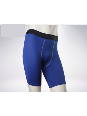 Comfortable Men's Body Shaper Muscle Tights Pants CF2204 blue