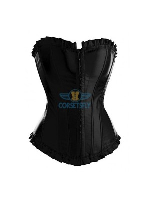 Fashion Sexy Front Buckle Up Bridal Wedding Overbust Strapless Corset CF7029
