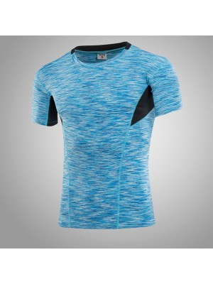 Men's Muscle Baselayer Short Athletic Abdomen Tights Shirt CF2227