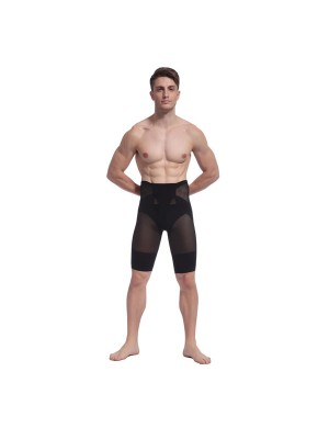 Men Transparent Slimming Compression Body Shaper Knee-length Underpants CF2102