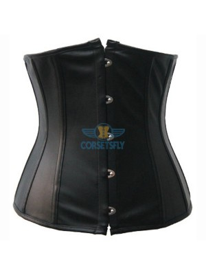 New Style Women Faux Strapless Leather Plus Size Underbust Corset CF7209
