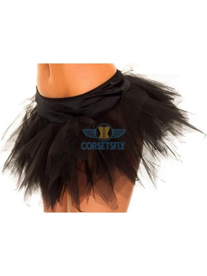 Ravewear Honey Multi-Layer Mini Hot Lingerie Petticoat Tutu For Women CF6519 Black