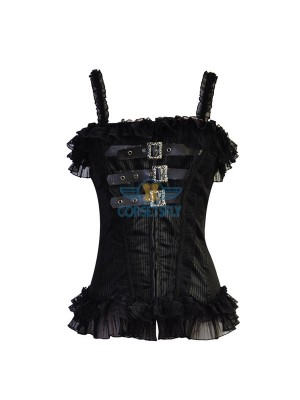 Sexy Paghetti Strap Punk Vintage Goth Retro Fullbust Lace Corset CF7024