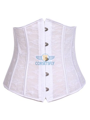 Sexy Seethrough Lace Bridal Wedding Front Busk Closure Underbust Corset CF7525