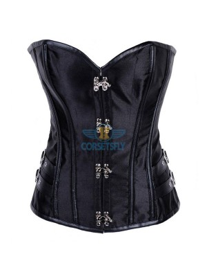 Steampunk Waist Training Buckle Side Clasp Closures Plastic Boned Corset CF8022