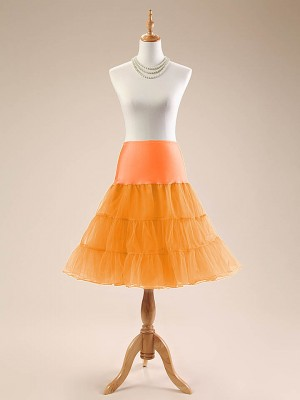 "Women Petticoat Skirt 1950s Tutu 26"" Length Net Rockabilly Underskirt CF1001"