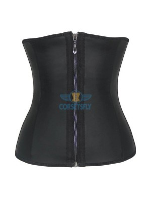 Women's Zip Latex Waist Trainer Corset Shaper for Weight Loss CF9052