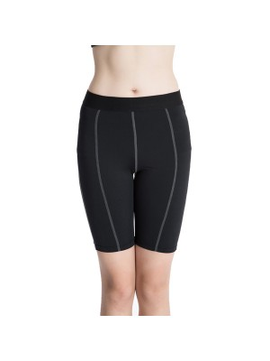 Women's Dry Elastic Athletic Compression Shorts CF2233 Black