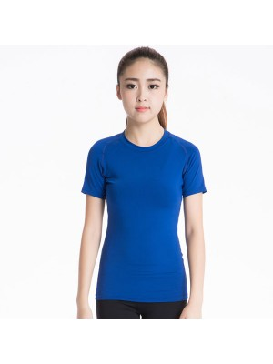 Women's Short Sleeve Elastic Athletic Compression Shirt CF2234