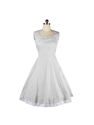 Womens Polka Dot 1950s Vintage Retro Swing Tea Party DressCF1228