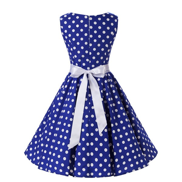 7ca8ae4e900b53 ... CF1015 Blue  1950s Vintage Audrey Hepburn Swing Pinup BoatNeck  Sleeveless Tea Dress CF1015 Blue 01 ...