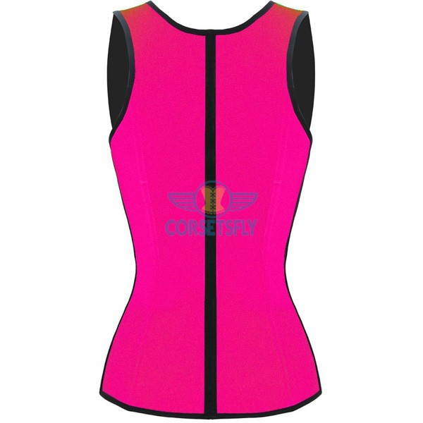 3 Hook Workout Faja Shapeware Latex Rubber Waist Training Bustier Corset CF9022 Pink_01