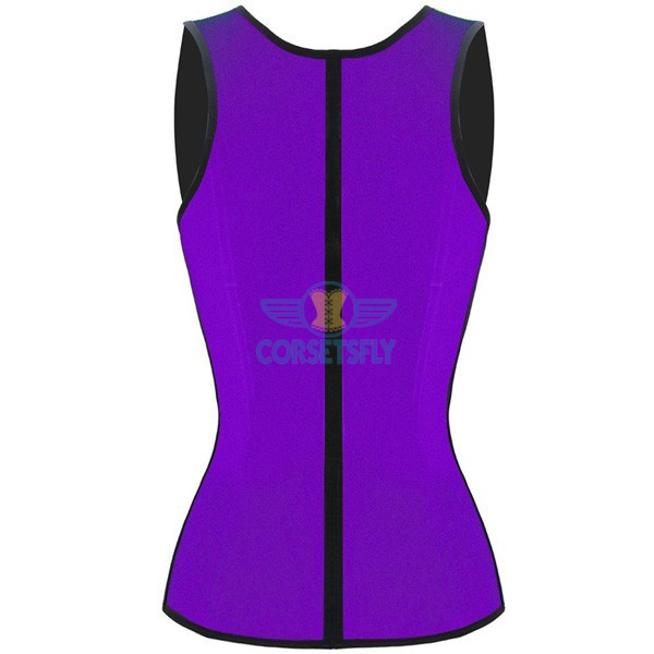 3 Hook Workout Faja Shapeware Latex Rubber Waist Training Bustier Corset CF9022 Purple_01