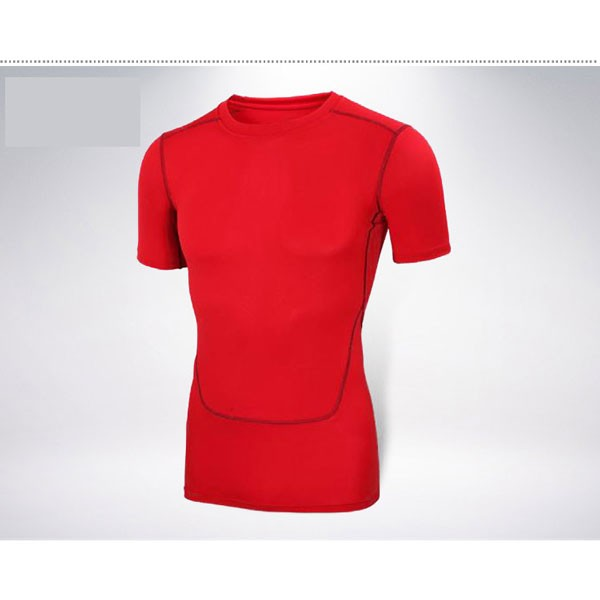 Comfortable Men's Baselayer Running Fitness Stretch Shirt CF2215 red