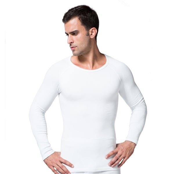 Comfortable Men's Body Shaper Long Vest CF2008 white