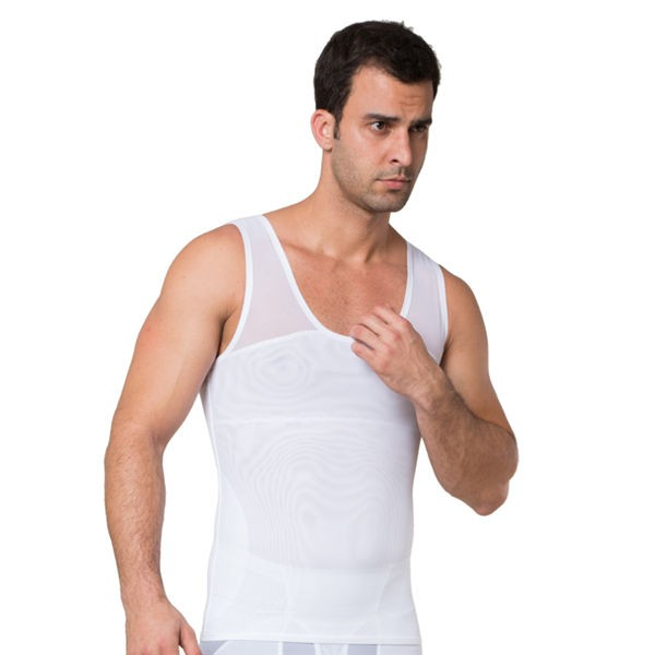 Comfortable Men's Body Shaper Trunk Vest CF2012 white _01