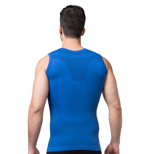 Comfortable Men's Body Slimming Compression Vest CF2015 blue_02