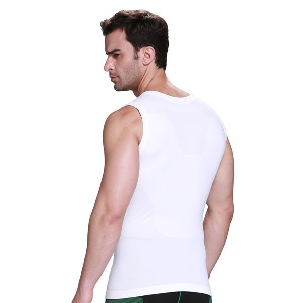 Comfortable Men's Body Slimming Compression Vest CF2015 white_02