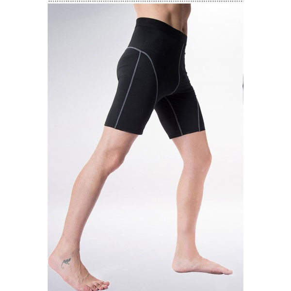 Comfortable Men's Cool Dry Athletic Performance Short Pants CF2216 black_02