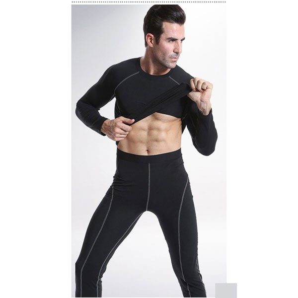 Comfortable Men's Muscle Athletic Performance Tights Pants CF2218 black_01