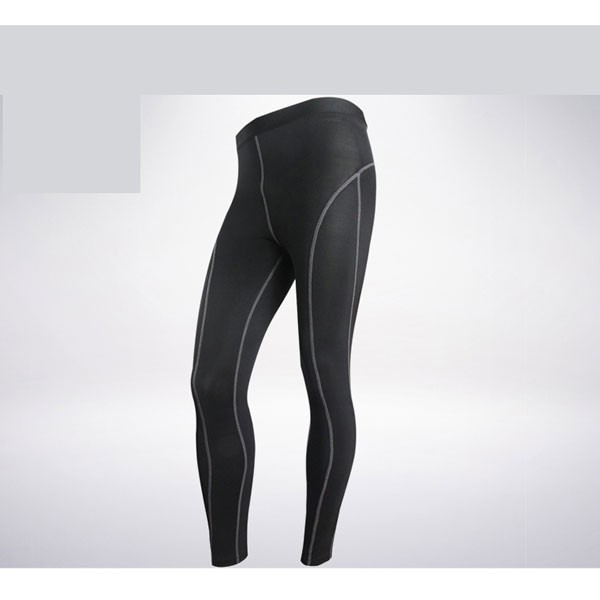 Comfortable Men's Muscle Athletic Performance Tights Pants CF2218 black——02