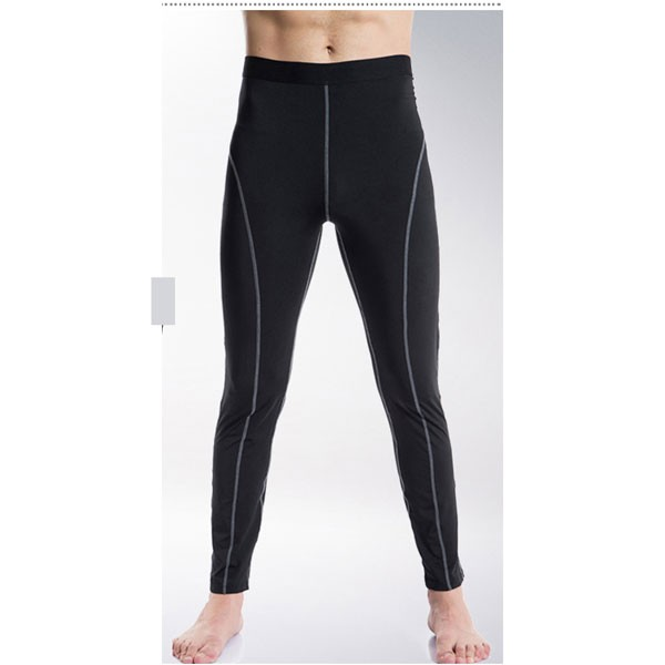 Comfortable Men's Muscle Athletic Performance Tights Pants CF2218 black
