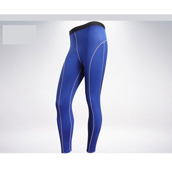 Comfortable Men's Muscle Athletic Performance Tights Pants CF2218 blue