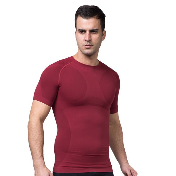 Comfortable Mens Cool-Dry Compression Vest CF2016 red