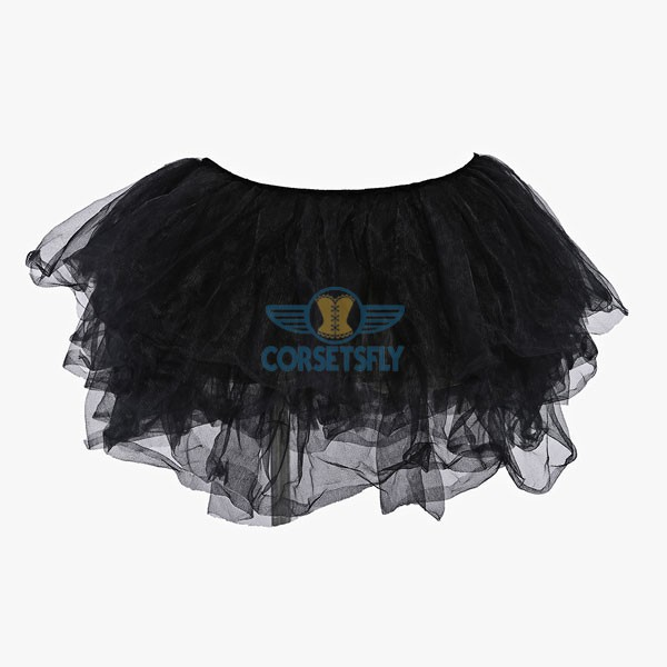 Extra Light Ballet Organza Princess Costume Short Tulle Tutu Petticoat CF6503 Black