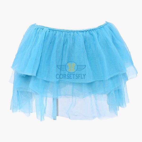 Extra Light Ballet Organza Princess Costume Short Tulle Tutu Petticoat CF6503 Lightblue