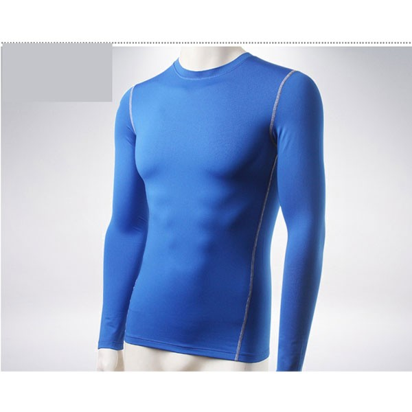 Men's Body Compression Athletic Abdomen Tights Shirt CF2213 blue