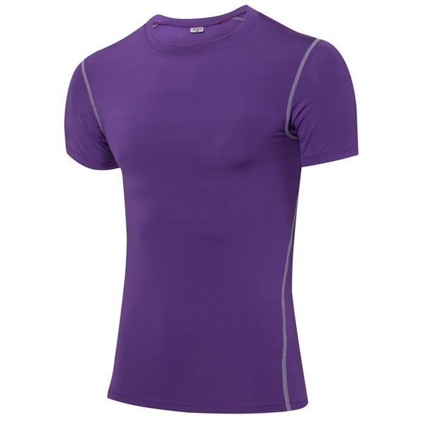 Men's Body Compression Athletic Stretch Shirt CF2203 purple