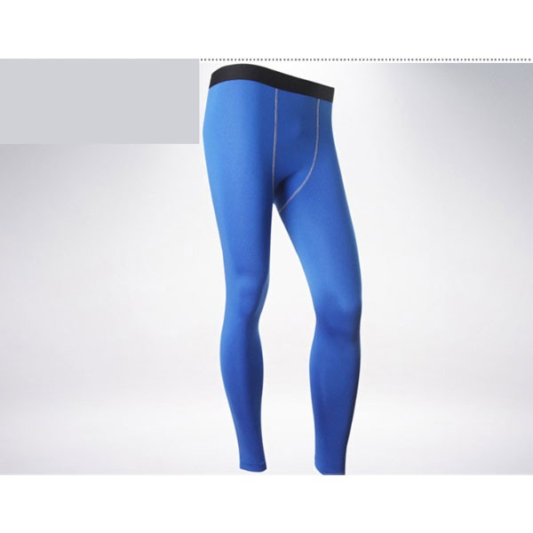 Men's Body Muscle Long Running Fitness Tights Pants CF2212 blue