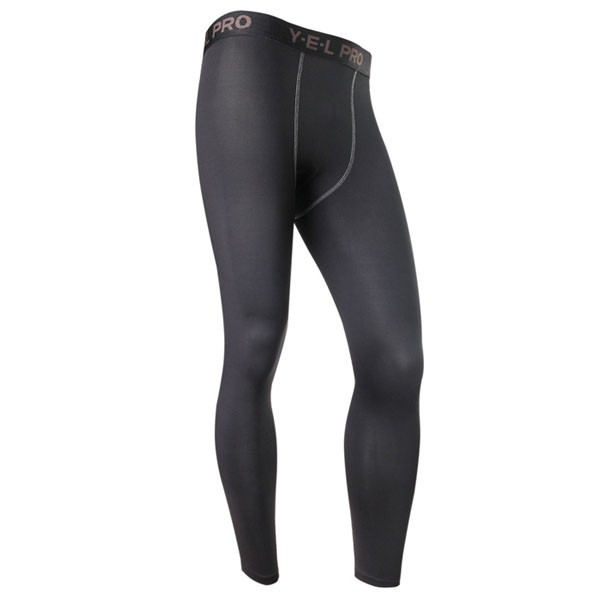 Men's Body Shaper Muscle Slimming Long Tights Pants CF2208 black_01